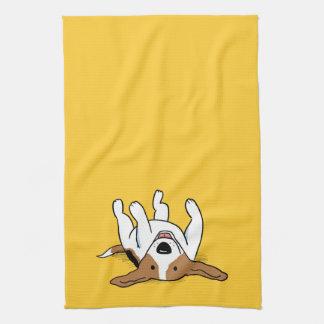 Perro lindo del dibujo animado del beagle toallas