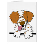 Perro lindo del dibujo animado del perro de aguas  tarjetón