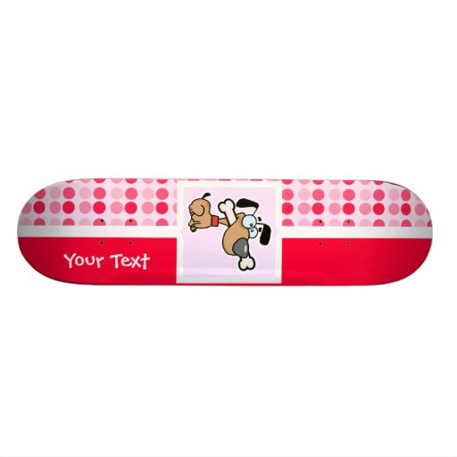 Perro lindo del dibujo animado patin personalizado