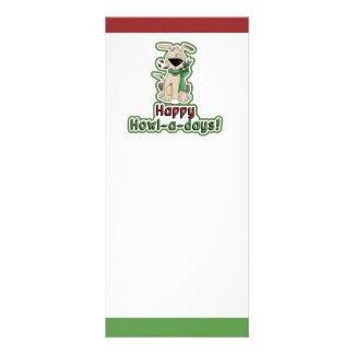 """Perro lindo del navidad folleto publicitario 4"""" x 9"""""""
