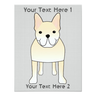 """Perro lindo. Dogo francés poner crema pálido Invitación 4.25"""" X 5.5"""""""