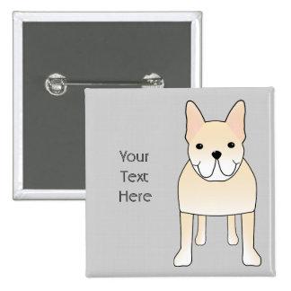 Perro lindo Dogo francés poner crema pálido Pin