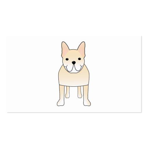 Perro lindo. Dogo francés poner crema pálido Tarjeta De Visita