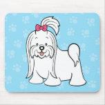 Perro lindo Mousepad maltés del dibujo animado Tapete De Raton