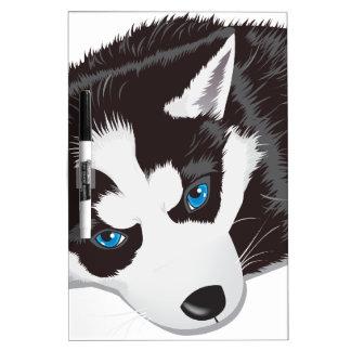 Perro lindo tableros blancos