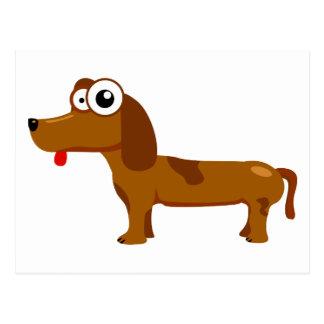 Perro lindo postal