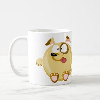 Perro lindo taza de café