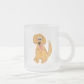 ¡Perro lindo! Taza De Café Esmerilada