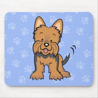 Perro lindo Yorkie Mousepad del dibujo animado