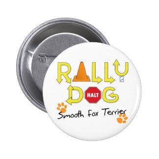 Perro liso de la reunión del fox terrier pin redondo 5 cm