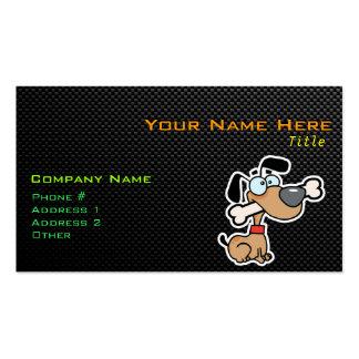 Perro liso del dibujo animado tarjetas de visita
