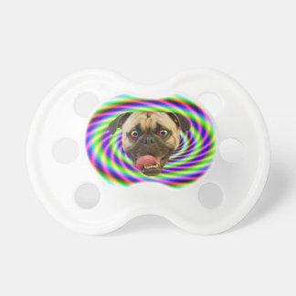 Perro loco psicodélico del barro amasado chupete de bebe