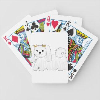 Perro maltés baraja cartas de poker