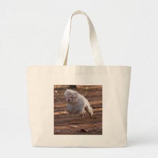 Perro maltés lindo bolsa de mano