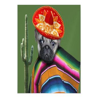 Perro mexicano del barro amasado invitaciones magnéticas
