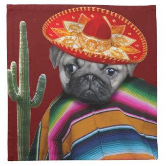 Perro mexicano del barro amasado servilletas