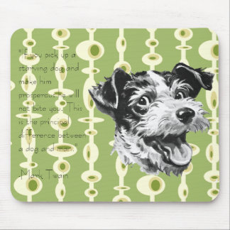 Perro moderno Mousepad de los mediados de siglo ad Tapete De Raton