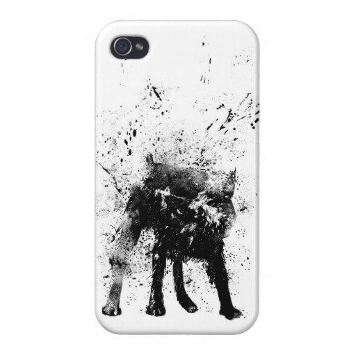 perro mojado iPhone 4 carcasa