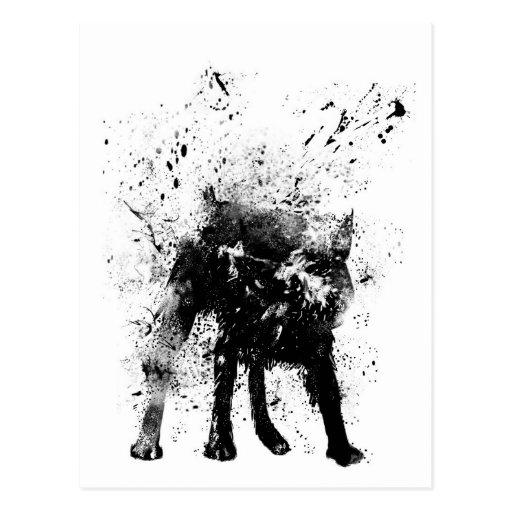 perro mojado postales