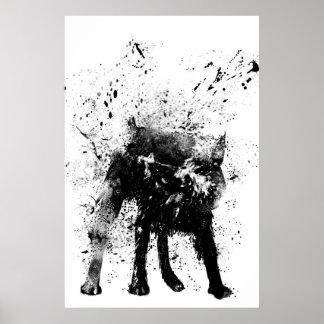 perro mojado póster