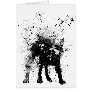 perro mojado tarjeta pequeña