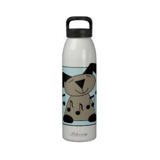 Perro musical botella de beber