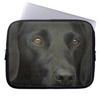 Perro negro de Labrador Funda Computadora