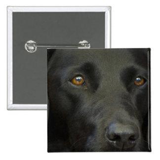 Perro negro de Labrador Pin Cuadrada 5 Cm