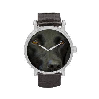 Perro negro de Labrador Relojes