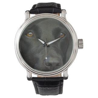 Perro negro de Labrador Reloj De Mano
