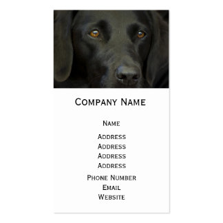 Perro negro de Labrador Tarjetas De Visita