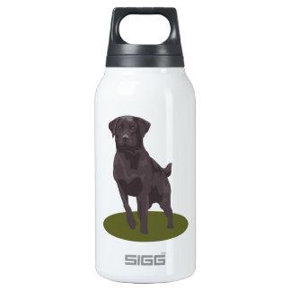 Perro negro del labrador retriever