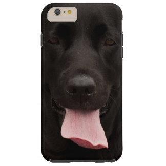 Perro negro funda de iPhone 6 plus tough