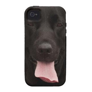 Perro negro iPhone 4/4S fundas