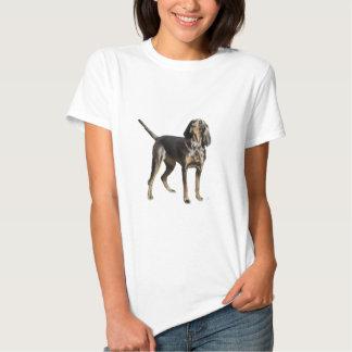 Perro negro y del moreno americano del Coon Polera
