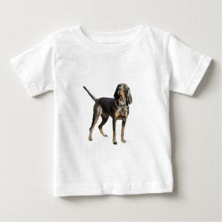 Perro negro y del moreno americano del Coon Remeras