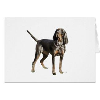 Perro negro y del moreno americano del Coon Tarjeta De Felicitación