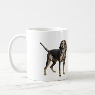 Perro negro y del moreno americano del Coon Taza Clásica