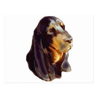 perro negro y del moreno del coon tarjeta postal