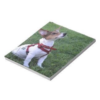 perro obediente del enchufe de Russell del perrito Libreta Para Notas