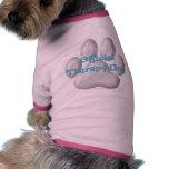 Perro oficial v3 de la terapia camiseta de mascota