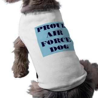 Perro orgulloso de la fuerza aérea de la ropa del playera sin mangas para perro