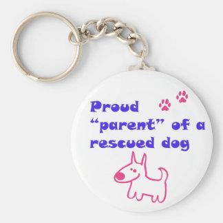 perro orgulloso llavero redondo tipo pin