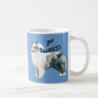 Perro pastor azul de Merle Shetland Taza