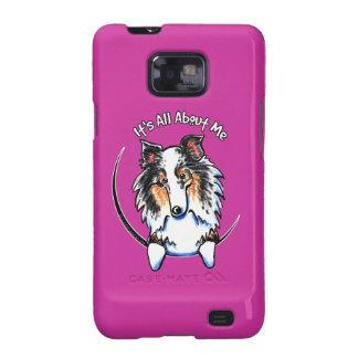 Perro pastor azul IAAM de Merle Sheltie Shetland Samsung Galaxy S2 Carcasa
