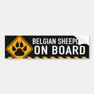 Perro pastor belga a bordo pegatina para coche