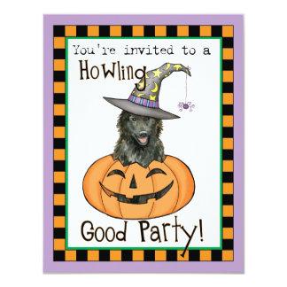 """Perro pastor belga Halloween Invitación 4.25"""" X 5.5"""""""