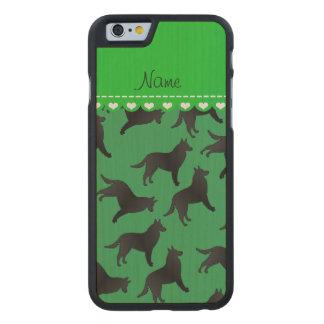 Perro pastor belga verde conocido personalizado funda de iPhone 6 carved® de arce