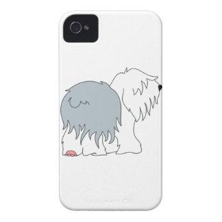 Perro pastor Bobtail iPhone 4 Cárcasas
