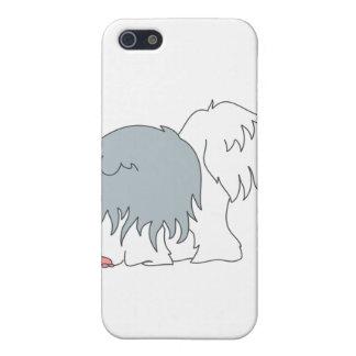 Perro pastor Bobtail iPhone 5 Carcasas